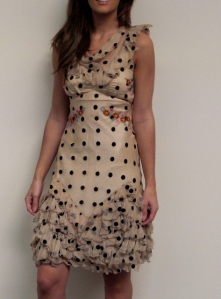 John Galliano polka Dot Dress Ruby Couture