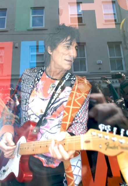 Ronnie Wood BT2 window Dublin lo res