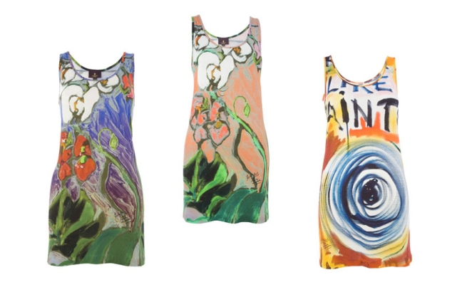 Ronnie Wood for Liberty of London Racer back dresses 3