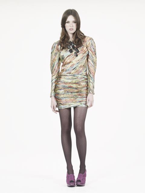 Abstract acid print dress Oasis