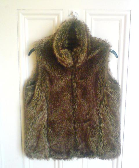Faux Fur Gilet €6 Cancer Research