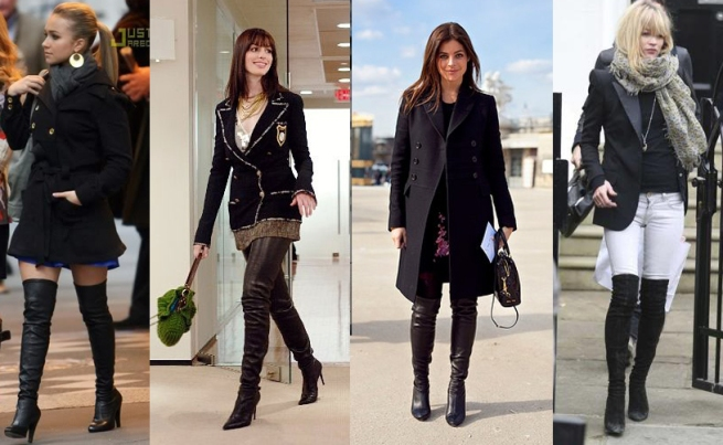 Hayden Pannettiere, Anne Hathaway, Julia Restoin Roitfeld, Kate Moss Thigh High Boots