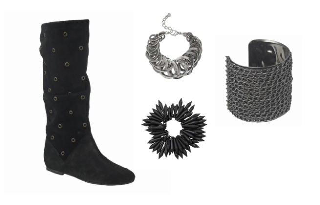 Idol Collection eyelet boots bracelets newlook
