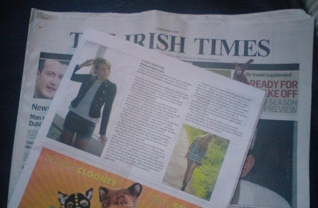 Irish Times Magazine Feature