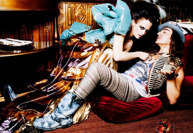 John Galliano and Eva Green by Ellen von Unwerth 2007 3