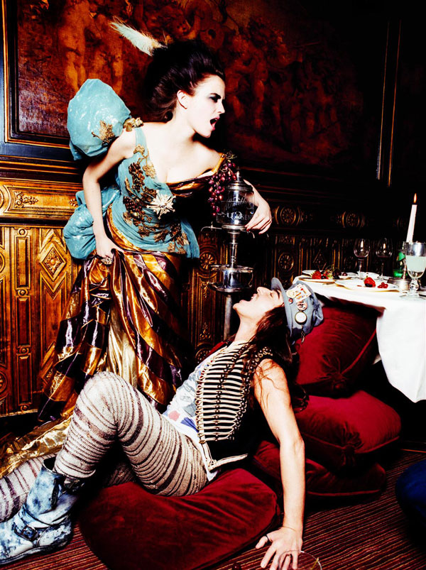 John Galliano and Eva Green by Ellen von Unwerth 2007
