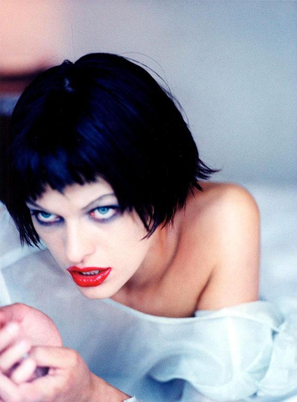 Milla Jovovich by Ellen von Unwerth 1997