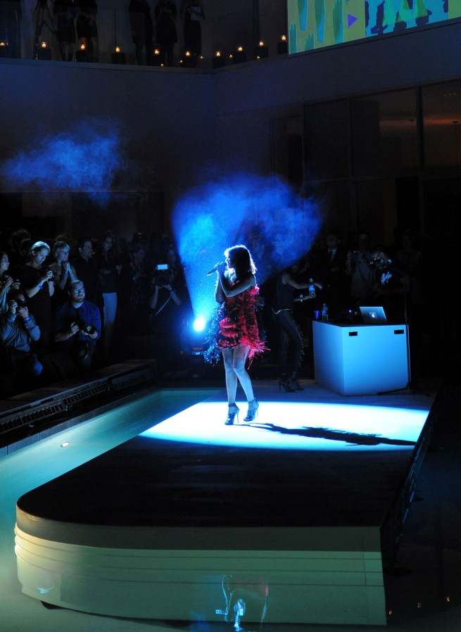 M.I.A. performing at the Jimmy Choo for H&M launch