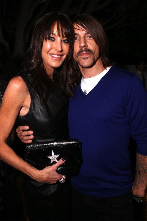 Tamara Mellon and Anthony Kiedis at Jimmy Choo for H&M
