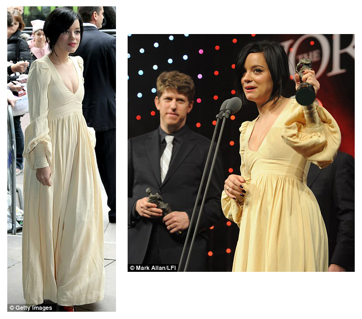 Lily Allen Ivor Novello Awards 2010 dress