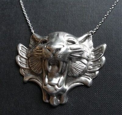 2010 Year of the Tiger Silver Necklace Zara Taylor