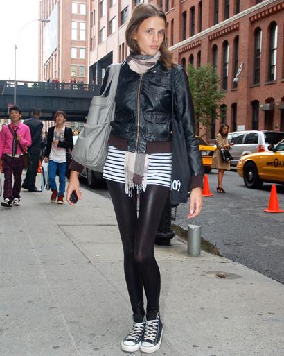 Model Adina Forizs NYFW converse Chucks | Whisty