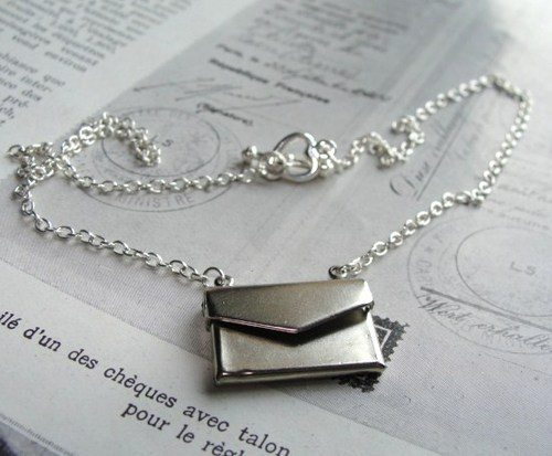 Silver Love Letter necklace 2 Zara Taylor
