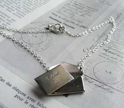 Silver Love Letter necklace Zara Taylor