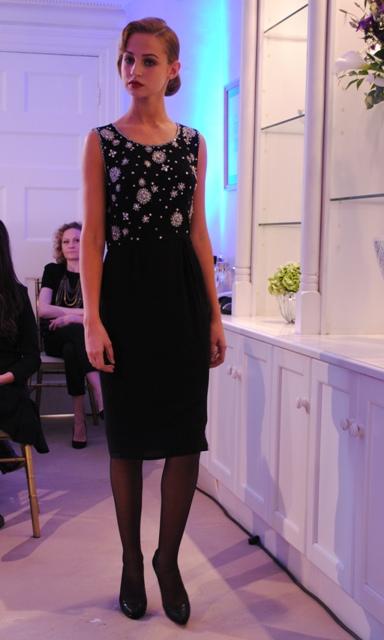 Louise Kennedy AW11 Embellished Shift Dress Whisty