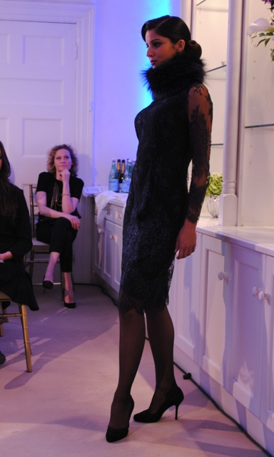 Louise Kennedy AW11 Lace Sleevesd Dress Whisty