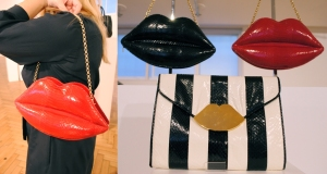 Lulu Guinness SS12 Preview Giant Lips shoulder bag whisty