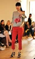 Marcus Lupfer Sequinned flamingo sweater