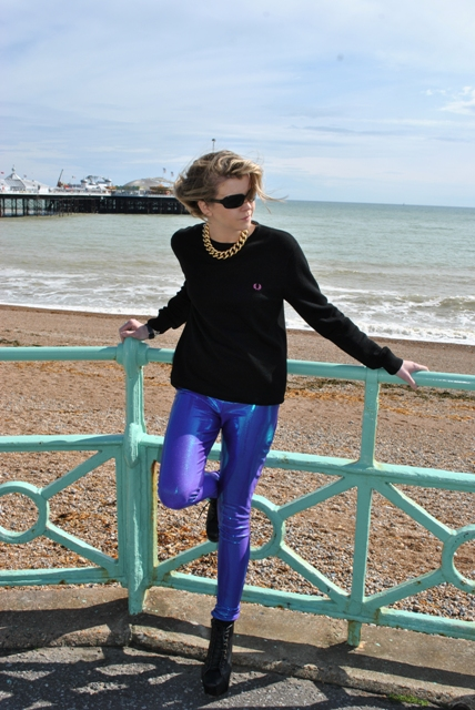 Fred Perry girl Brighton Pier Whisty blogger style 2