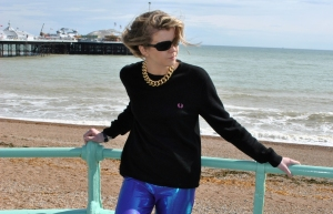 Fred Perry girl Brighton Pier Whisty blogger style