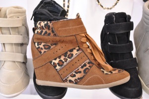 New Look autumn winter 2012 hi top wedges brown suede leopard