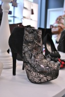 New Look autumn winter 2012 silve rose jaquard heel boots