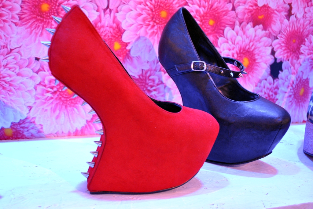 4ed51de876b7 Schuh shoes Autumn   Winter 2012 fashion preview » Schuh shoes AW 12 no heel  studded red suede high heels whisty