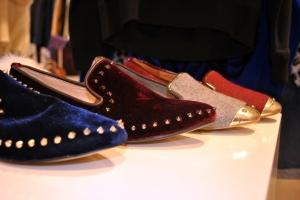 River Island AW'12 Velvet Stud Slipper Shoes