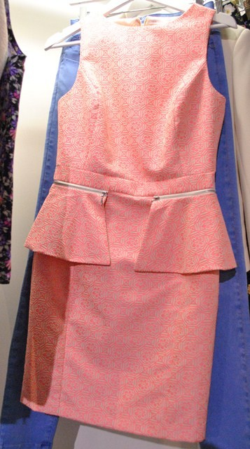 New Look SS'13 salmon shift peplumn dress whisty