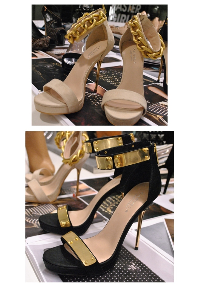 Kurt Geiger Ankle Strap Heels with Gold Detail SS13 Whisty 1