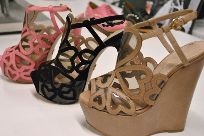 Kurt Geiger Heart Leather Cut Out Wedges & Heels SS13 Whisty