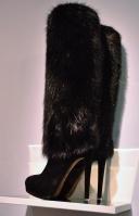 Louis Vuitton Bearskin Inspired Fur Knee high Boot 2013 Whisty