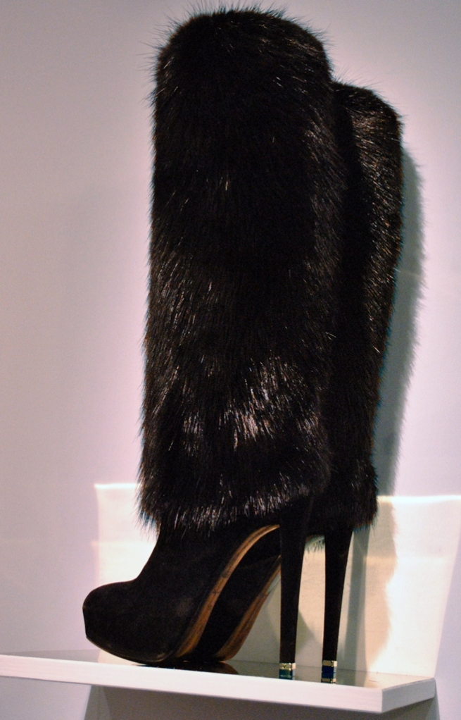 Louis Vuitton Bearskin Inspired Fur Knee high Boot 2013 Whisty