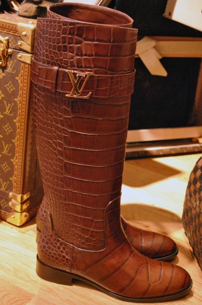 Louis Vuitton Croc Leather Riding Boot 2013 Whisty