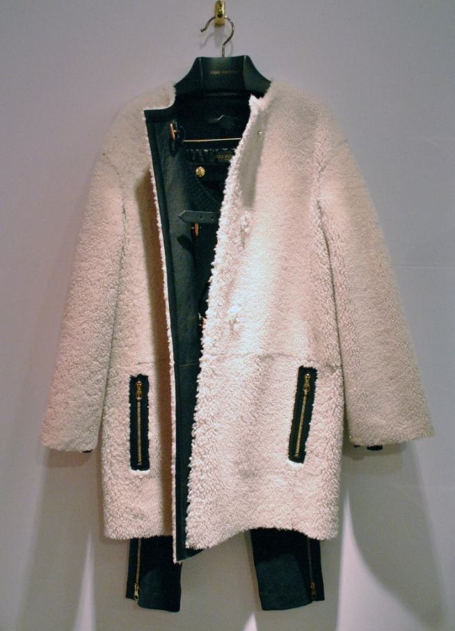 Louis Vuitton Sheepskin Balmaccan Coat 2013 Whisty