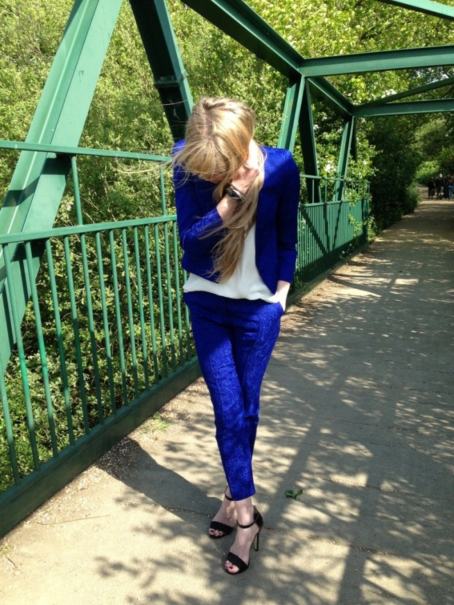 Whisty Street Style Blue Topshop Suit Primark Sandals 2013 lo