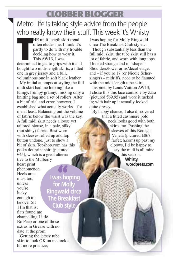 Laura Whiston Fashion Column Nov 2013